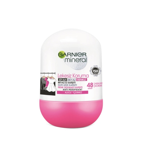 Garnier Mineral Rollon Black White 50 Ml