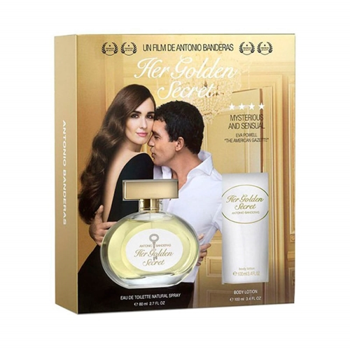 Antonia Banderas Her Golden Secret Woman Edt 100 Ml + Body Lotion Kofre