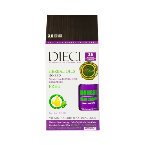 Dieci Herbal Oil  Amonyaksız Kit Boya 3.0 Koyu Kahve