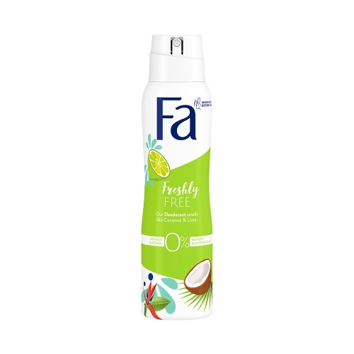 Fa Deodorant Freshly Free Lime & Coconut 150 Ml