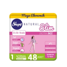 Sleepy Natural Slim Ekstra İnce Normal 60'lı Ped (Mega Paket)
